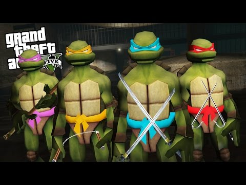 TEENAGE MUTANT NINJA TURTLES IN GTA 5!! (GTA 5 Mods Gameplay)