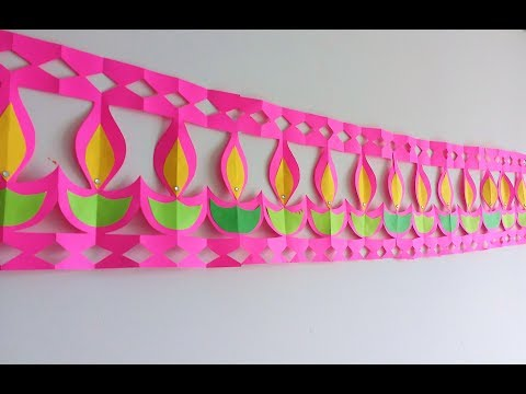 Diwali decoration //Easy Paper Bandarwal