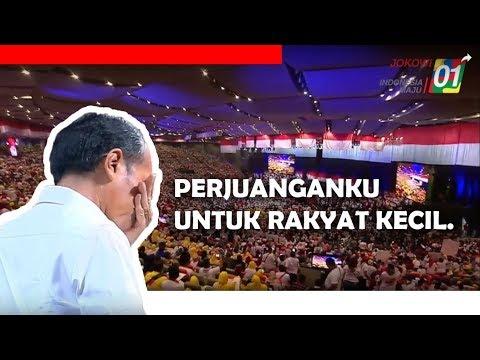 """MENGHARUKAN! Jokowi Menangis Saat Menyebut """"Rakyat Kecil"""""""