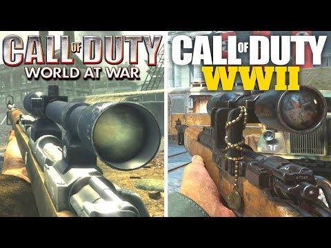UPDATED Call of Duty WWII Gun Sounds vs World at War! (17 Guns, 2008 vs 2017)