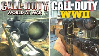 UPDATED Call of Duty WWII Gun Sounds vs World at War! (17 Guns, 2008 vs 2017)
