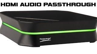 Hauppauge HD PVR 2 Gaming Edition Plus - HDMI Audio Passthrough