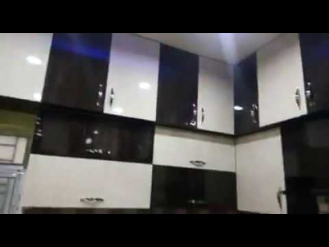 Modular Kitchen Black White Color Design Youtube