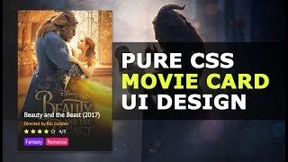 Movie Card UI Design Using HTML and CSS - How To Create a Movie Card User Interface - Tutorial