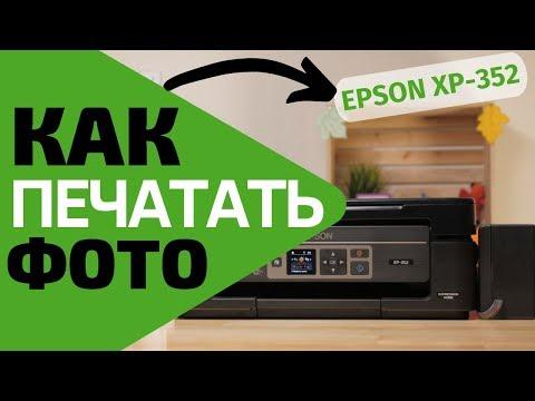 Как печатать фото на примере Epson XP-352