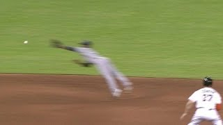 Ciriaco makes an UNREAL diving catch to rob Ozuna