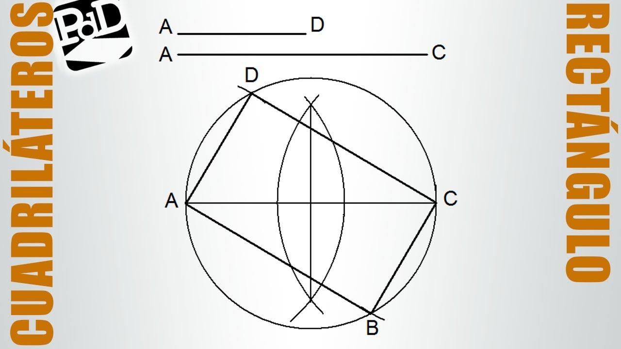 Trazar un rectngulo conociendo uno de sus lados y la diagonal