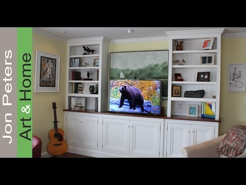how to build a tv lift cabinet finished installed. Black Bedroom Furniture Sets. Home Design Ideas