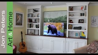 How To Build A Tv Lift Cabinet Part 6 Finished And Installed By Jon Peters