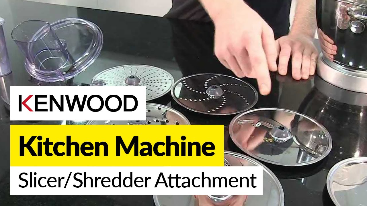 How to use a slicershredder attachment Kenwood  YouTube
