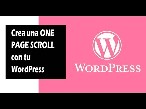 Como hacer ONE PAGE SCROLL con WORDPRESS - 2019 thumbnail
