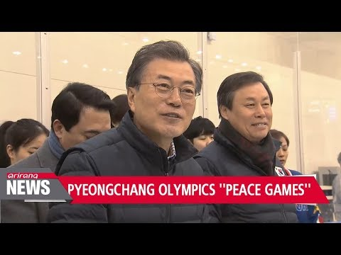 "S. Korean President Moon visits Olympic squad ""Great chance for improving inter-Korean ties"""