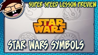Lesson Preview: How to Draw SYMBOLS from the STAR WARS Movies | Super Speed Time Lapse Art
