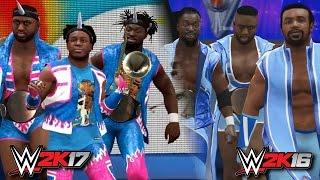 WWE 2K17 vs WWE 2K16 Comparison - New Day Entrance & AJ Styles, Bubba Ray & More Screens