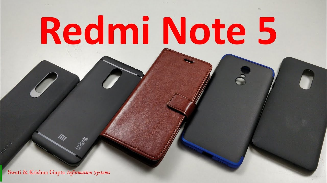 big sale 468ef fb98e [Part 1] Best Accessories for Xiaomi Redmi Note 5 ! (Back Case & Cover)