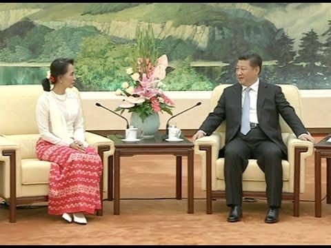China's CPC General Secretary Xi Jinping Meets Aung San Suu Kyi