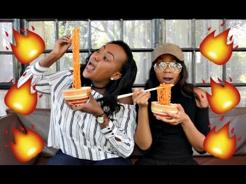 Fire Noodle Challenge ft. Anita Nkatha & Real Tears! // FindingZola