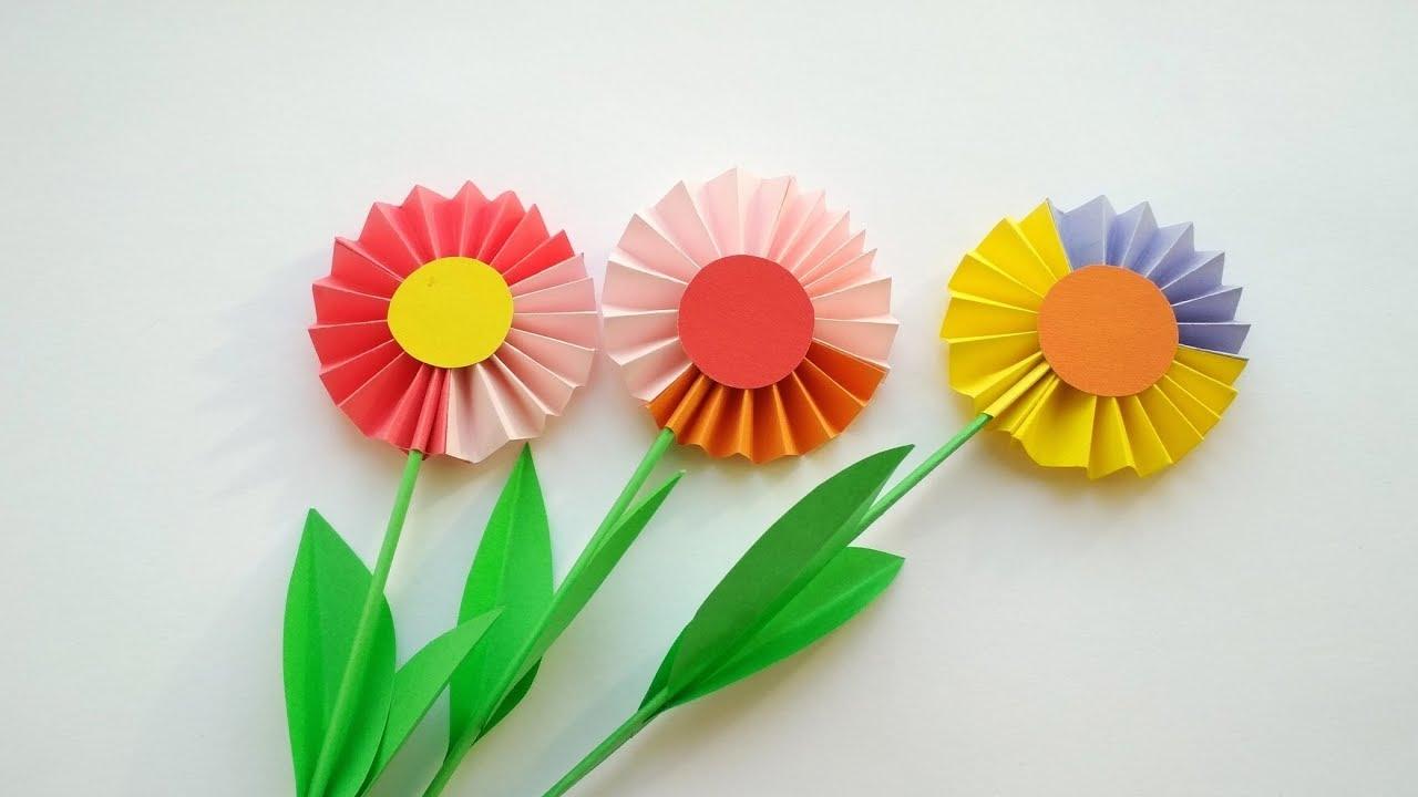 Цветы из бумаги легко своими руками пошаговое