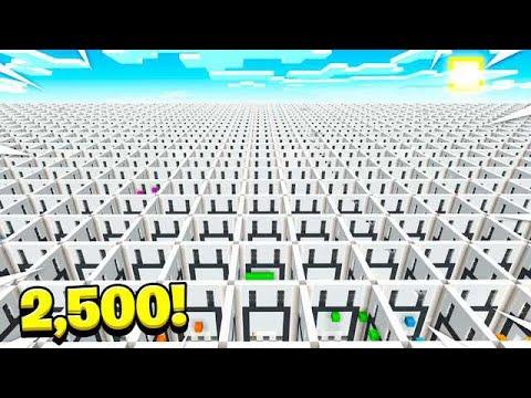 WORLD'S BIGGEST MINECRAFT MAP! 2,500 LEVELS!
