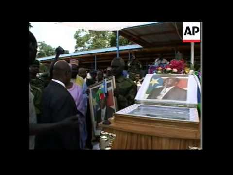 Ugandan leader pays respects to Garang's body