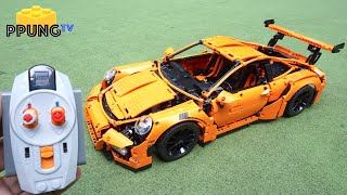 LEGO Technic 42056 RC motorized Porsche 911 GT3 RS (Power functions & building instructions) by 뿡대디