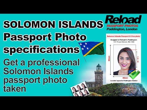 Solomon Islands Passport Photo and Visa Photo snapped in Paddington, London