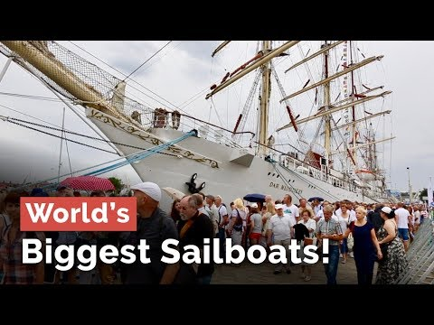 The Biggest Sailboats in the World Now in Szczecin... The Tall Ships Races