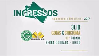 Chamada Goiás x Criciúma