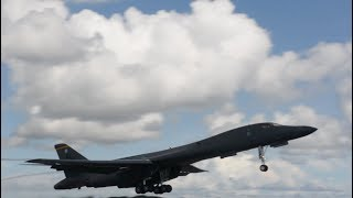 US B-1B Bombers Take Off From Guam