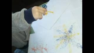 Рисование восковыми мелками и утюгом. Техника энкаустика.