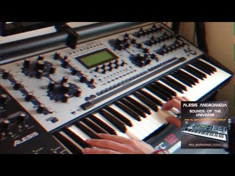 """Alesis Andromeda """"Sounds of the Universe"""" new sound bank first 32 presets"""
