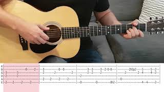 Tears In Heaven (Eric Clapton) Fingerstyle / Instrumental Guitar TAB tutorial/playthrough