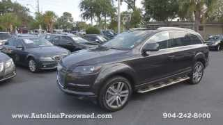 Autoline Preowned 2008 Audi Q7 3.6L Premium For Sale Used Walk Around Review Test Drive Jacksonville