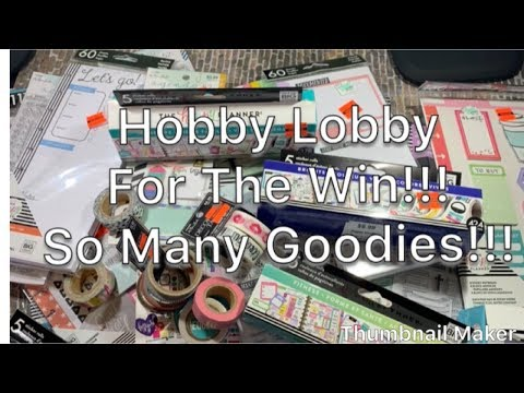 Hobby Lobby Goodies on Sale!!!| Happy Planner Happy Girl Line| Stamps| Washi