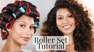 How To Heatless Roller Set On Natural Hair!