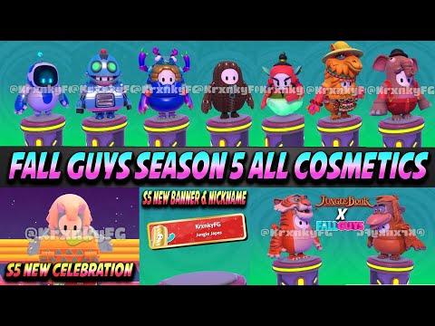 Fall Guys All New Season 5 Cosmetics Leaked  | Jungle Book Collab | New Celebration U0026 More