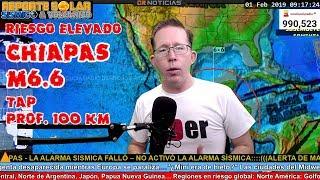 PREDICCION EXITOSA DE TERREMOTO M6.6 CHIAPAS MÉXICO TAP EN REGION ANUNCIADA FEB 1 2019