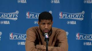 Paul George Postgame Press Conference - Full Highlights | Game 4 | April 26, 2017 | NBA Playoffs
