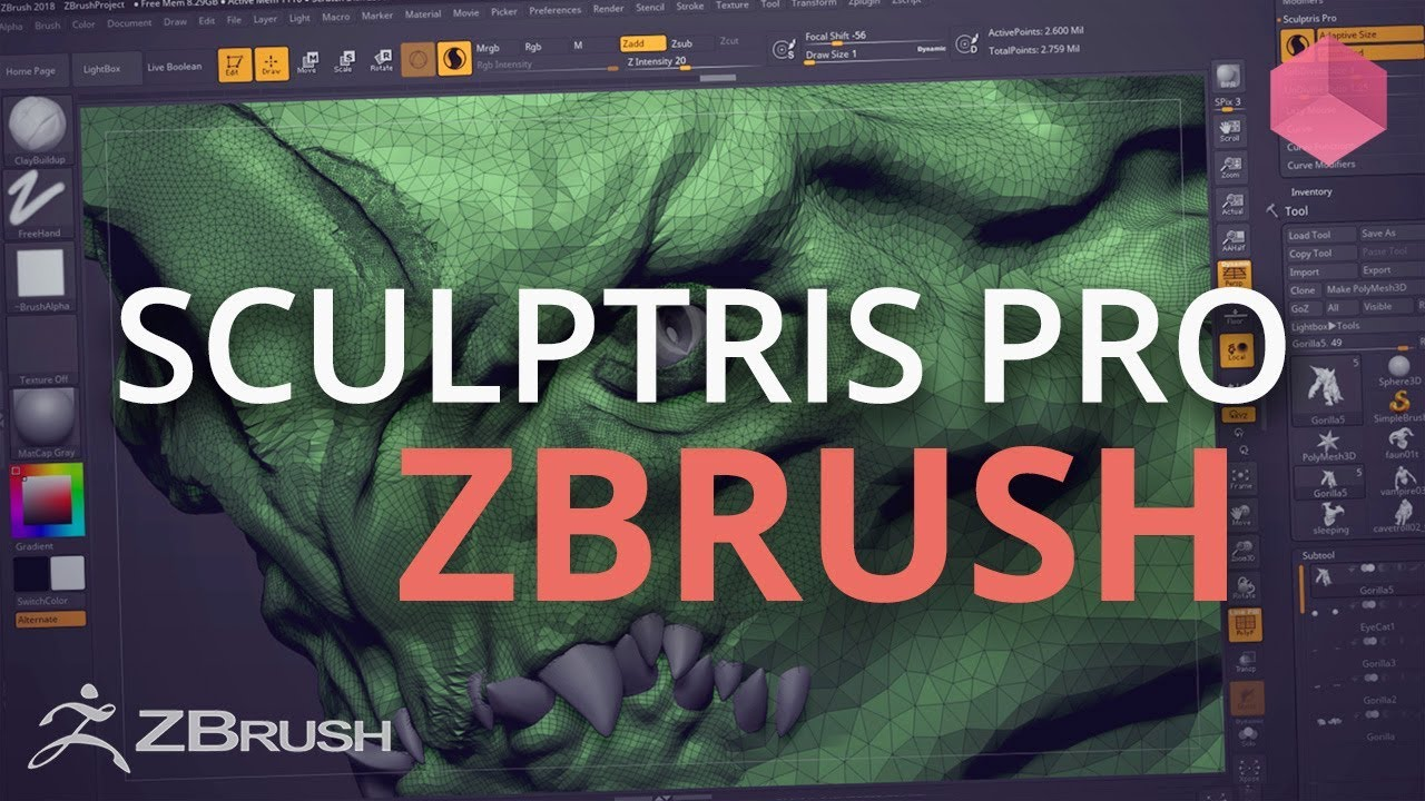 How to Get Started With Sculptris Pro in Zbrush 2018 - Lesterbanks