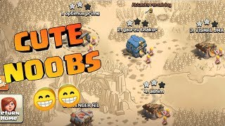 CUTE NOOBS IN CLASH OF CLANS , CLASH OF CLANS INDIA.