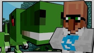 minecraft   the diamond minecart   rayaurus visits jurassic world   custom mod adventure