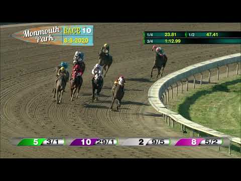 video thumbnail for MONMOUTH PARK 08-08-20 RACE 10