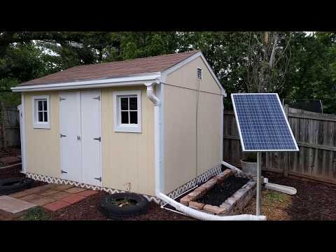 Solar Power Tool Shed Set Up