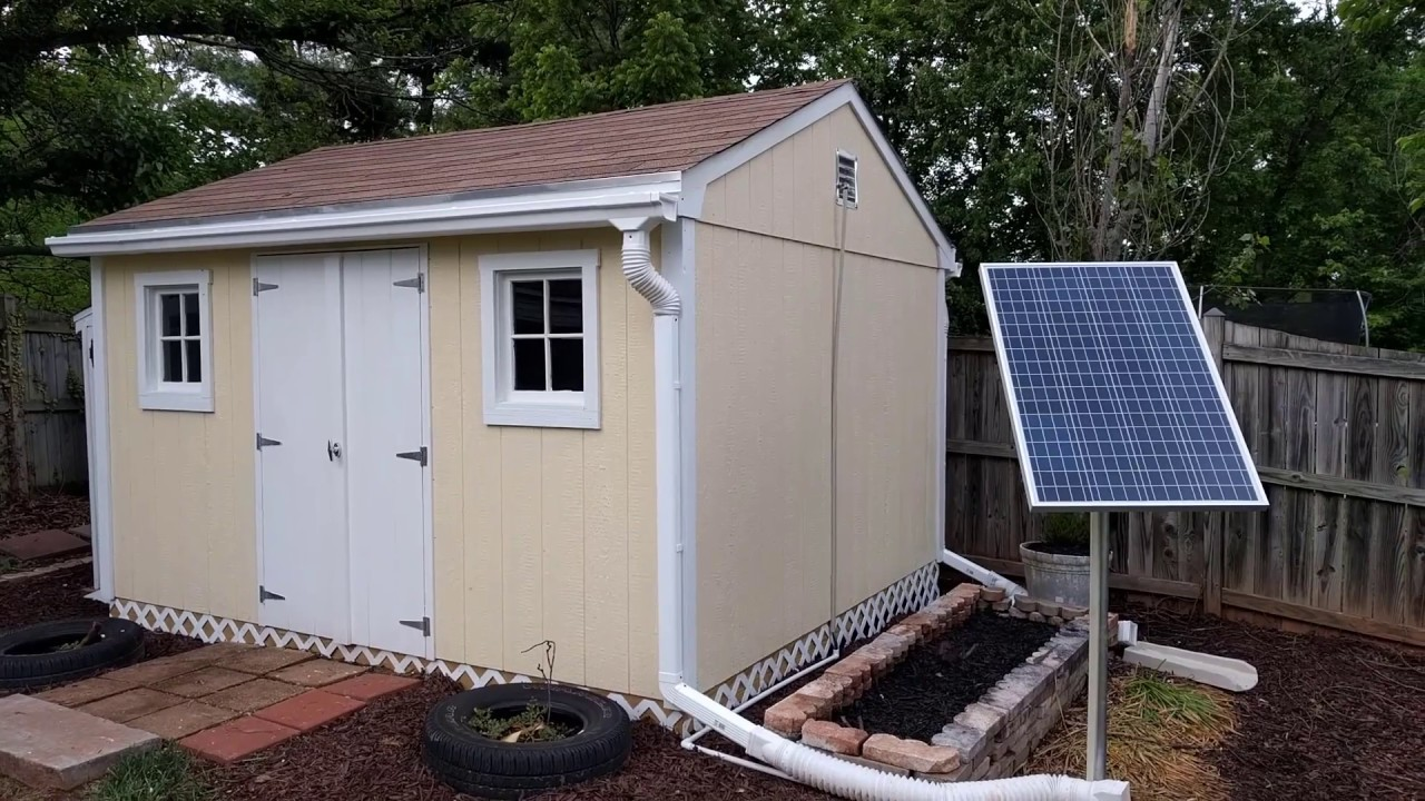 Solar Power Tool Shed Set Up Youtube