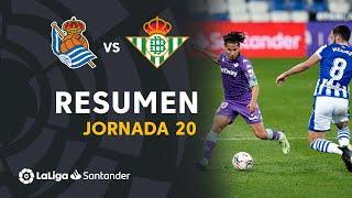 Resumen de Real Sociedad vs Real Betis (2-2)