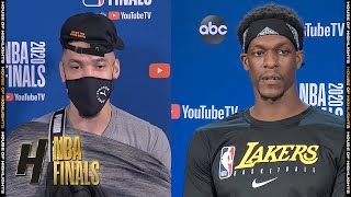 Danny Green & Rajon Rondo  Full Interview - Game 1 Preview | Lakers vs Heat | 2020 NBA Finals