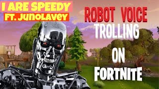 Fortnite: Battle Royale - Robot Voice Trolling Funny Moments - C3PO, Batteries Low, and MORE!!!