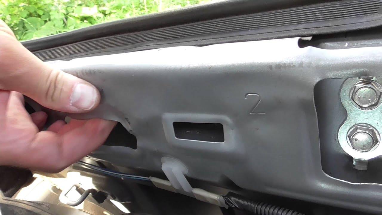 замена крышки багажника toyota corona