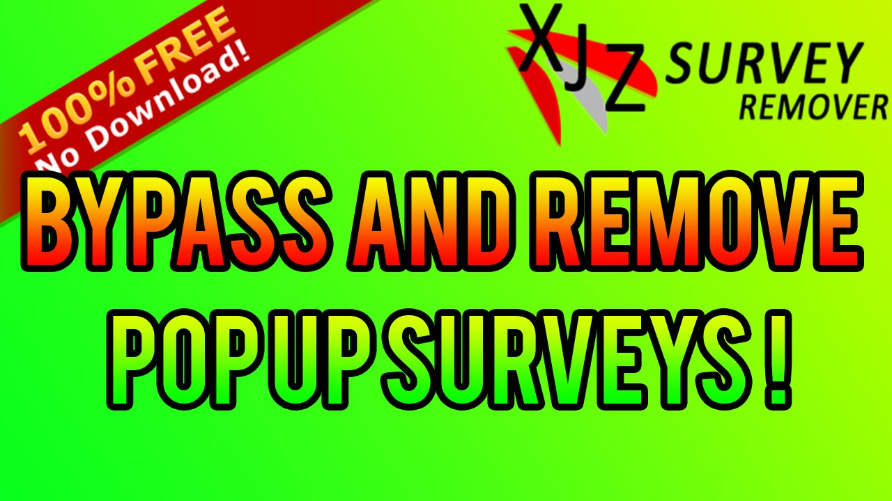 how to bypass surveys 2016 no download 100 free youtube