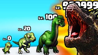 EVOLVING a MAX LEVEL GODZILLA DINOSAUR in Rampage : Giant Monsters